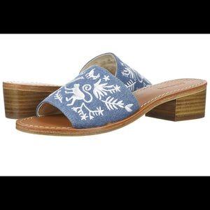 NWOT Soludos Otomi city slide sandals